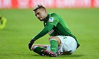 FUSSBALL   1. BUNDESLIGA   SAISON 2012/2013    18. SPIELTAG SV Werder Bremen - Borussia Dortmund                   19.01.2013 Aaron Hunt (SV Werder Bremen) ist enttaeuscht