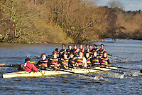 060 .SHP-Leeves .NOV.8+ .Shiplake Coll. Wallingford Head of the River. Sunday 27 November 2011. 4250 metres upstream on the Thames from Moulsford railway bridge to Oxford Universitiy's Fleming Boathouse in Wallingford. Event run by Wallingford Rowing Club..