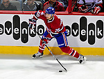 31 March 2010: Montreal Canadiens' defenseman Josh Gorges in action against the Carolina Hurricanes at the Bell Centre in Montreal, Quebec, Canada. The Hurricanes defeated the Canadiens 2-1. Mandatory Credit: Ed Wolfstein Photo