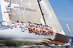 Genuine Risk sailing at the start of the Newport Bermuda Race 2010. The race started in Newport, Rhode Island on June 18, 2010.