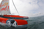Trimaran Sodebo  with the skipper Thomas coville  in Preparation for La Route du Rhum La Banque Postale  2010.