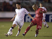 Clint Dempsey and Joel Solanilla. The USA defeated Panama 3-0 in final round World Cup qualifying at Estadio Rommel Fernandez, Panama City, Panama, on June 8, 2005.