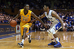 29 December 2014: Toledo's Julius Brown (20) and Duke's Quinn Cook (2). The Duke University Blue Devils hosted the University of Toledo Rockets at Cameron Indoor Stadium in Durham, North Carolina in a 2014-16 NCAA Men's Basketball Division I game. Duke won the game 86-69.
