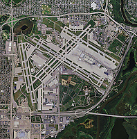 aerial photo map of Minneapolis St Paul International Airport, Minnesota
