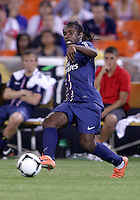 WASHINGTON, DC - July 28, 2012:  Peguy Luyindula (8) of PSG (Paris Saint-Germain) in an international friendly match against DC United at RFK Stadium in Washington DC on July 28. The game ended in a 1-1 tie.