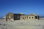 An abandoned diamond mine on the Diamond area of the Namibian Coast.  Now in the restricted  Diamond area owned by the mining company DeBeers  the area is rarely  visited