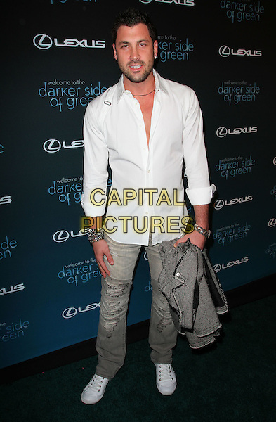 MAKSIM CHMERKOVSKIY.The Darker Side of Green Debate held at Palihouse, West Hollywood, CA, USA..July 8th, 2010.full length white shirt jeans denim grey gray.CAP/ADM/KB.©Kevan Brooks/AdMedia/Capital Pictures.