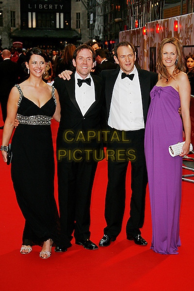 BEN MILLER, ALEXANDER ARMSTRONG & GUESTS .Red Carpet Arrivals for the British Academy Television Awards 2008, held at the London Palladium, London, England, .April 20th 2008. .BAFTA BAFTA's full length black purple dress tuxedo .CAP/DAR.©Darwin/Capital Pictures.