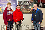 Tralee Omniplex showed the Series Four finale of  'Sherlock' on Sunday pictured l-r Michael Dowling, Ann Dowling and Elisha Dowling