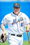 2 March 2010: New York Mets' infielder Mike Hessman walks to the dugout prior to a game against the Atlanta Braves during the Opening Day of Grapefruit League play at Tradition Field in Port St. Lucie, Florida. The Mets defeated the Braves 4-2 in Spring Training action. Mandatory Credit: Ed Wolfstein Photo