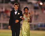 Xalin Redmond is escorted by Cody Allen during Lafayette High vs. Byhalia in homecoming football action in Oxford, Miss. on Friday, September 24, 2010.