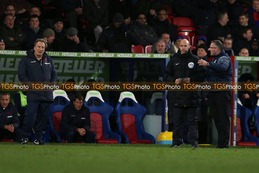 Crystal Palace manager Neil Warnock and Aston Villa manager Paul Lambert - Crystal Palace vs Aston Villa - Barclays Premier League Football at Selhurst Park, London - 02/12/14 - MANDATORY CREDIT: Simon Roe/TGSPHOTO - Self billing applies where appropriate - contact@tgsphoto.co.uk - NO UNPAID USE