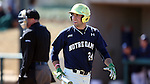CARY, NC - MARCH 05: Notre Dame's Matt Vierling. The Monmouth University Hawks played the University of Notre Dame Fighting Irish on March 5, 2017, at USA Baseball NTC Field 2 in Cary, NC in a Division I College Baseball game, and part of the Irish Classic tournament. Notre Dame won the game 4-0.