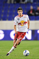 Andrew Boyens (27) of the New York Red Bulls. The New York Red Bulls defeated the New England Revolution 3-0 during a U. S. Open Cup qualifier round match at Red Bull Arena in Harrison, NJ, on May 12, 2010.