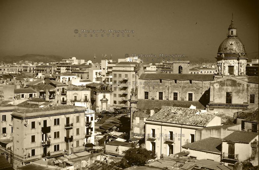 Palermo, historic city center, Ballaro' district.<br /> Palermo. centro storico, quartiere Ballaro' e Albergheria.