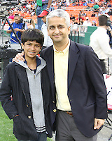 Sunil Galati and son during an MLS match between the New England Revolution and D.C. United on April 3 2010, at RFK Stadium in Washington D.C.