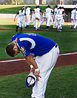 "The Laurel Dodgers #25 Keenan Weatherford reacts to the end of th game after the Dodgers left three players on base in their 7-6 loss to the Kennewick Junior Bandits in the championship game of the American Legion Northwest Class ""A"" Regional Tournament.The Bandits took first place with a score of 7-6 after 9 innings of play at Kearns Gates Field in Kearn Utah Tuesday, Aug. 11, 2009. August Miller"