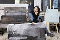 "Elnaz Mustafaee, 21, studies painting at the Art University of Tehran. She was asked what her dreams are: ""I would like to understand people, because I feel solitude."""