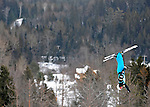 16 January 2009: Ryan St. Onge from the USA performs aerial acrobatics during the FIS Freestyle World Cup warm-ups at the Olympic Ski Jumping Facility in Lake Placid, NY, USA. Mandatory Photo Credit: Ed Wolfstein Photo. Contact: Ed Wolfstein, Burlington, Vermont, USA. Telephone 802-864-8334. e-mail: ed@wolfstein.net