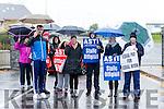 ASTI teachers striking from Mercy Mounthawk Tralee on Tuesday