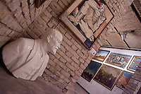 Paintings made in the style of socialist realism and sculptures depicting Soviet leader Vladimir Ilyich Lenin are on display in a gallery in Hungary. Large number of artifacts from Hungary's socialist past was found in the basements of different ministries after a change in political power. These communist pictures and sculptures are now being prepared for a charity auction to support those affected by the recent red sludge catastrophe in Hungary. The auction drawing great attention from around the world is to be held on December 6th in Budapest, Hungary. Photos taken during preparations for the auction on November 25, 2010. ATTILA VOLGYI
