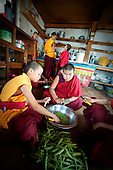 Young monks in the kitchen