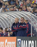 New England Revolution head coach Steve Nicol. In a Major League Soccer (MLS) match, the New England Revolution tied the Colorado Rapids, 0-0, at Gillette Stadium on May 7, 2011.