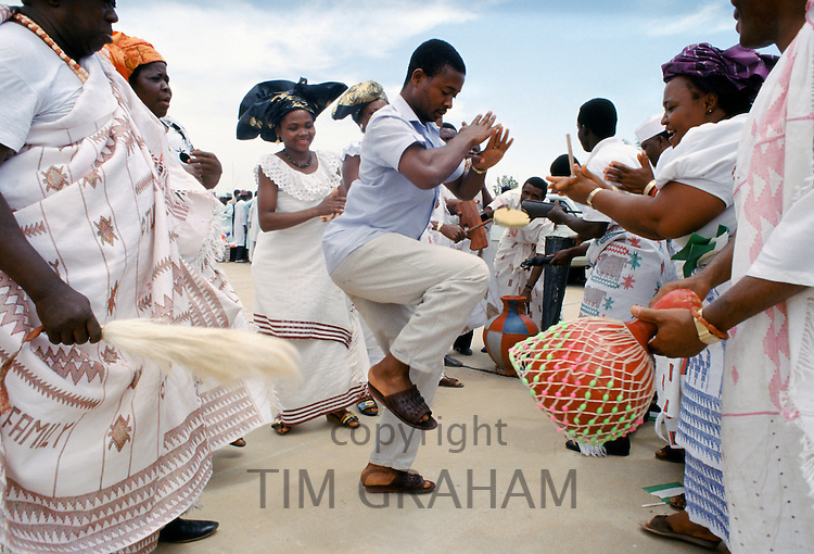 Nigerian locals at tribal gathering cultural event at Maiduguri in Nigeria, West Africa