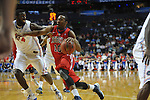 Ole Miss' LaDarius White (10) vs. Florida's  (14) in the SEC championship game at Bridgestone Arena in Nashville, Tenn. on Sunday, March 17, 2013.