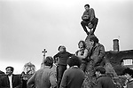 Bottle Kicking and Hare Pie Scrambling, Hallaton Leicestershire England 1973.<br />