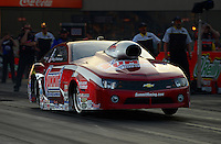Jun. 30, 2012; Joliet, IL, USA: NHRA pro stock driver Greg Anderson during qualifying for the Route 66 Nationals at Route 66 Raceway. Mandatory Credit: Mark J. Rebilas-