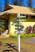 Direction Signs, Lanai City, Lanai, Hawaii