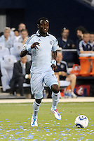 Kei Kamara Sporting KC...Sporting KC were held to a scoreless tie with Chicago Fire in the inauguarl game at LIVESTRONG Sporting Park, Kansas City, Kansas.