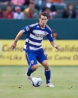 CARSON, CA – June 18, 2011: FC Dallas defender Zach Loyd (19)  during the match between Chivas USA and FC Dallas at the Home Depot Center in Carson, California. Final score Chivas USA 1, FC Dallas 2.