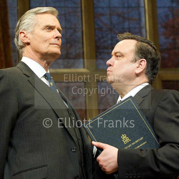 Yes, Prime Minister<br /> by Antony Jay &amp; Jonathan Lynn<br /> at the Apollo Theatre, London, Great Britain <br /> Press Photocall<br /> 6th July 2011 <br /> <br /> Simon Williams (as Sir Humphrey Appleby)<br /> Richard McCabe (as Jim Hacker)<br /> <br /> <br /> <br /> Photograph by Elliott Franks