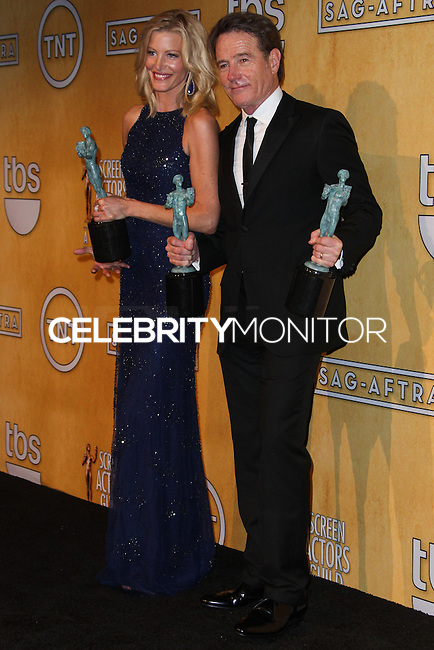 LOS ANGELES, CA - JANUARY 18: Anna Gunn, Bryan Cranston in the press room at the 20th Annual Screen Actors Guild Awards held at The Shrine Auditorium on January 18, 2014 in Los Angeles, California. (Photo by Xavier Collin/Celebrity Monitor)