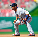 29 August 2010: St. Louis Cardinals first baseman Albert Pujols in action against the Washington Nationals at Nationals Park in Washington, DC. The Nationals defeated the Cards 4-2 to take the final game of their 4-game series. Mandatory Credit: Ed Wolfstein Photo
