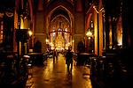 Church of St. Francis of Assisi, designed by the Polish artist Stainslaw Wyspianski, in Krakow, Poland