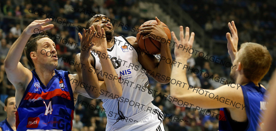 Kevin Andrew Jones Aba regionalna liga Partizan - Igokea 27.12.1015. December 27. 2015. (credit image & photo: Pedja Milosavljevic / STARSPORT)