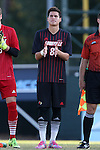 23 October 2015: Louisville's Romilio Hernandez. The University of North Carolina Tar Heels hosted the University of Louisville Cardinals at Fetzer Field in Chapel Hill, NC in a 2015 NCAA Division I Men's Soccer match. UNC won the game 2-1.