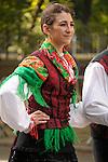 The Hispanic Parade in New York City. A woman representing Spain in the Hispanic Parade in New York City.