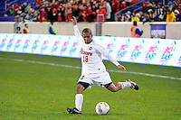 Walter Hines (19) of the St. John's Red Storm. St. John's defeated Villanova 2-0 during the second semifinal match of the Big East Men's Soccer Championships at Red Bull Arena in Harrison, NJ, on November 11, 2011.
