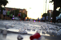 Water cups on the street after a marathon