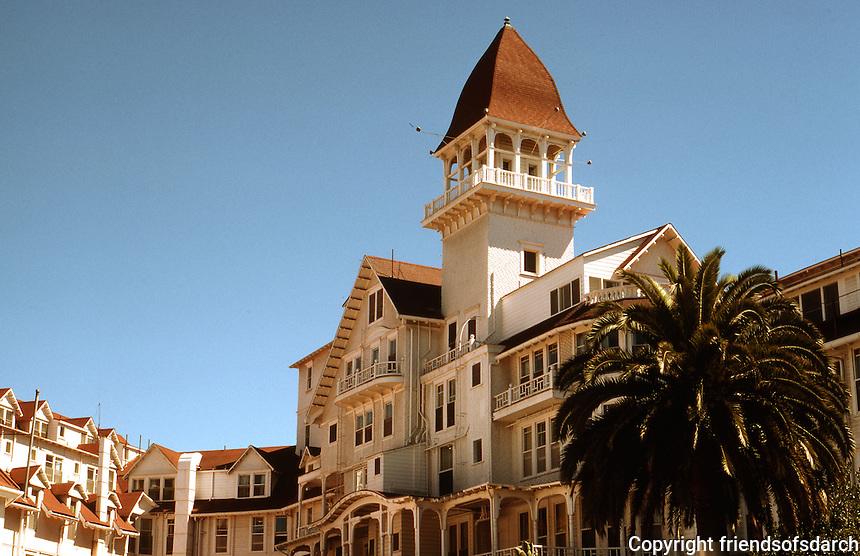 San Diego: Hotel Del Coronado, Coronado. Rear of complex.