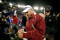 GAINESVILLE, FL 11/28/09-FSU-UF FB09 CH56-Florida State Head Coach Bobby Bowden leaves the field after the Gators beat the Seminoles 37-10, Saturday at Florida Field in Gainesville. .COLIN HACKLEY PHOTO