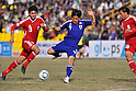 Sohib Savankulov (TJK), Shinji Okazaki (JPN), NOVEMBER 11, 2011 - Football / Soccer : 2014 FIFA World Cup Asian Qualifiers Third round Group C match between Tajikistan 0-4 Japan at Central Stadium in Dushanbe, Tajikistan. (Photo by Jinten Sawada/AFLO)