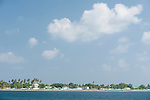 Mulaku Atoll, Maldives; a view of the town on Mulaku Atoll