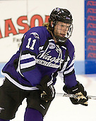 Ryan Murphy (Niagara - 11) - The visiting Niagara University Purple Eagles defeated the Northeastern University Huskies 4-1 on Friday, November 5, 2010, at Matthews Arena in Boston, Massachusetts.
