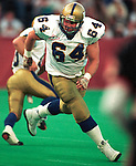 Bob Molle Winnipeg Blue Bombers 1992. Copyright photograph Scott Grant