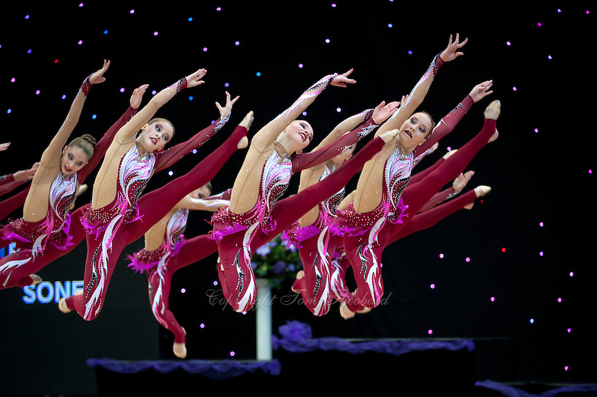 """February 14, 2016 - Tartu, Estonia - SONET from Russia performs in AGG Event Finals at """"Miss Valentine"""" 2016 international tournament."""